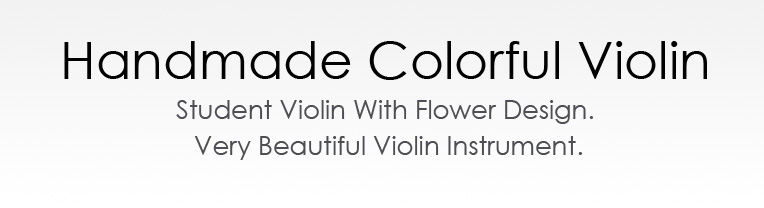 Handmade Colorful Electric Violin